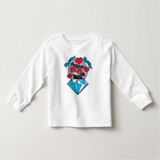 T-shirt Pour Les Tous Petits Catwoman de Chibi s'asseyant placé sur le grand