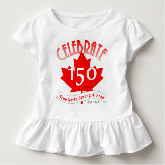 T-shirt Pour Les Tous Petits Célébrez le Canada 150 ans