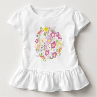 T-shirt Pour Les Tous Petits Cercle doux des fleurs dans les roses