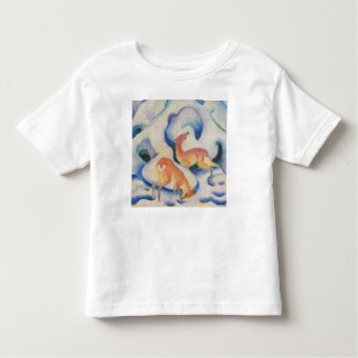 T-shirt Pour Les Tous Petits Cerfs communs dans la neige par Franz Marc