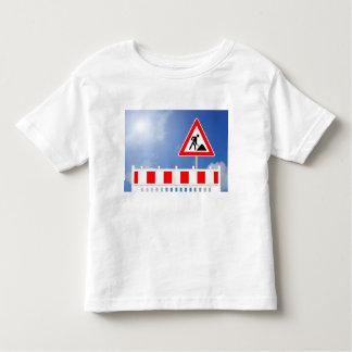T-shirt Pour Les Tous Petits Chantier, barrage de chantier et ski de chantier