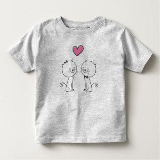 T-shirt Pour Les Tous Petits Chats romantiques simples dans la chemise de