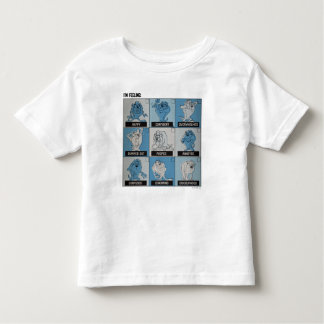T-shirt Pour Les Tous Petits Checkbox d'émotion de TAZ™