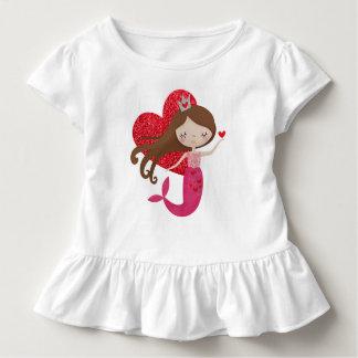 T-shirt Pour Les Tous Petits Chemise d'amour de sirène pour des filles