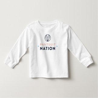 T-shirt Pour Les Tous Petits Chemise de douille d'enfant en bas âge de nation