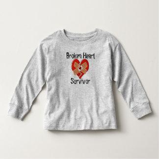 T-shirt Pour Les Tous Petits Chemise de Long-Douille de survivant du coeur