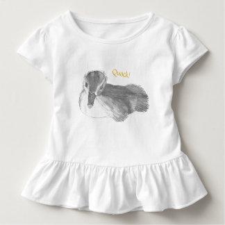 T-shirt Pour Les Tous Petits Chemise de ruche de bébé de canard