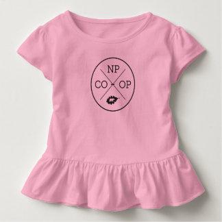 T-shirt Pour Les Tous Petits Chemise de ruche de conception de cercle de filles