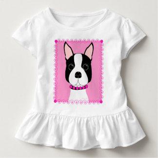 T-shirt Pour Les Tous Petits Chemise de ruche de filles d'enfant en bas âge de
