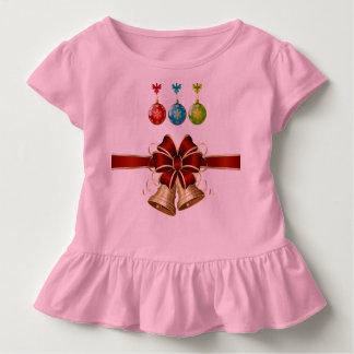 T-shirt Pour Les Tous Petits Chemise de ruche de Noël d'enfant en bas âge