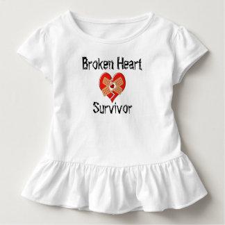 T-shirt Pour Les Tous Petits Chemise de survivant du coeur brisé