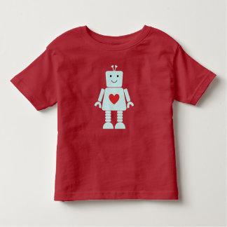 T-shirt Pour Les Tous Petits Chemise de Valentine de robot d'enfants