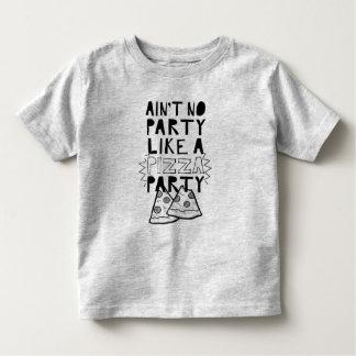 T-shirt Pour Les Tous Petits Chemise d'enfant en bas âge de partie de pizza