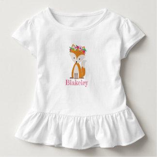T-shirt Pour Les Tous Petits Chemise d'enfant en bas âge personnalisée par Fox