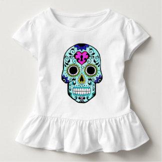 T-shirt Pour Les Tous Petits chemise en pastel au néon colorée de crâne de