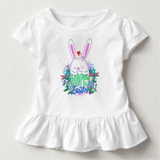 T-shirt Pour Les Tous Petits Chemise heureuse de filles de Pâques pour le