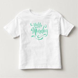T-shirt Pour Les Tous Petits Chemise lunatique mignonne de lundi | de bonjour