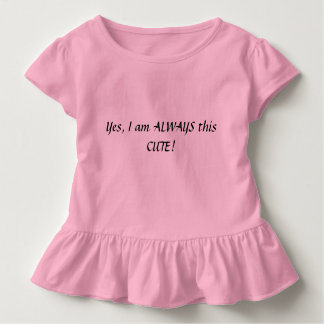 T-shirt Pour Les Tous Petits Chemise mignonne de fille d'enfant en bas âge