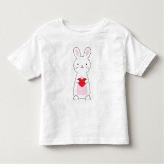 T-shirt Pour Les Tous Petits Chemise mignonne de Valentine de lapin d'enfants
