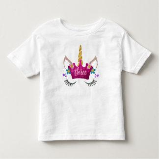 T-shirt Pour Les Tous Petits Chemise personnalisée de licorne couronnée 3ème
