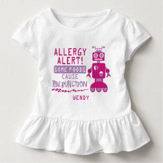 T-shirt Pour Les Tous Petits Chemise rose d'alerte d'allergie alimentaire de