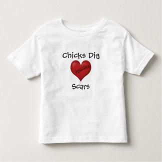 T-shirt Pour Les Tous Petits Cicatrices de fouille de poussins