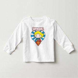 T-shirt Pour Les Tous Petits Coeur et logo de Chibi Supergirl Starburst