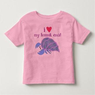 T-shirt Pour Les Tous Petits Coeur I mon bernard l'ermite