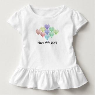 T-shirt Pour Les Tous Petits Coeurs mignons d'arc-en-ciel