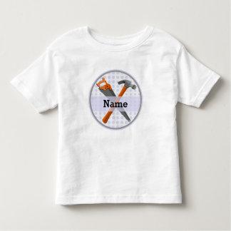 T-shirt Pour Les Tous Petits Conception de marteau et de scie pour des garçons