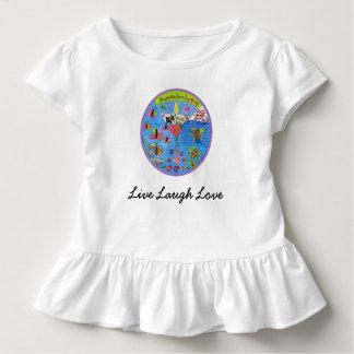 T-shirt Pour Les Tous Petits Conception vivante de chemise d'amour de rire
