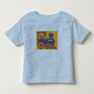 T-shirt Pour Les Tous Petits Copie de bloc vintage de train de Père Noël