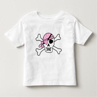 T-shirt Pour Les Tous Petits Correction de coeur de crâne de pirate des