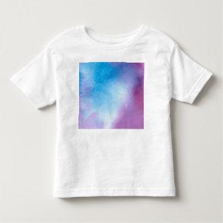 T-shirt Pour Les Tous Petits Couleur pour aquarelle de marbre rose et bleue