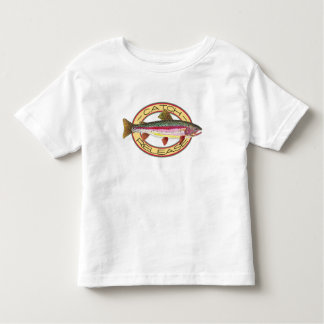 T-shirt Pour Les Tous Petits Crochet de truite et pêcheur de libération petit