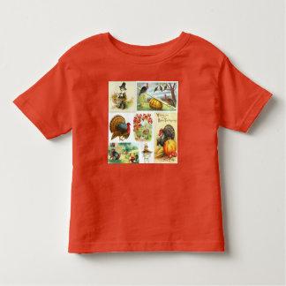 T-shirt Pour Les Tous Petits Cru de mélange de thanksgiving