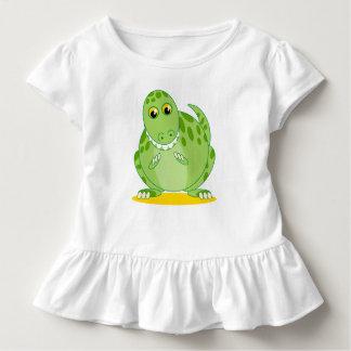 T-shirt Pour Les Tous Petits Dinosaure vert mignon de Rex de T-Rex ou de