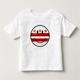 T-shirt Pour Les Tous Petits Drapeau de sourire de Washington DC