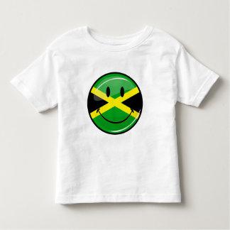 T-shirt Pour Les Tous Petits Drapeau jamaïcain de sourire
