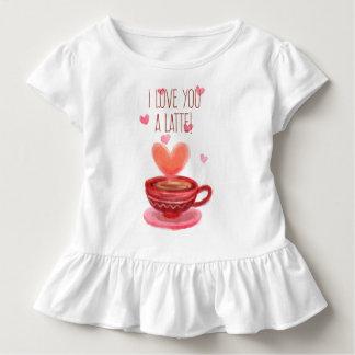 T-shirt Pour Les Tous Petits Drôle je t'aime une pièce en t de ruche de Latte