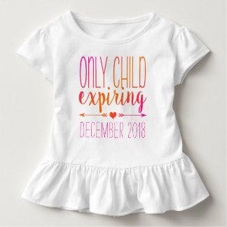 T-shirt Pour Les Tous Petits Enfant unique Ombre rose et orange expirant -