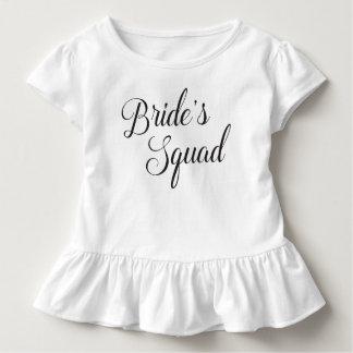T-shirt Pour Les Tous Petits Enfants du peloton de la jeune mariée