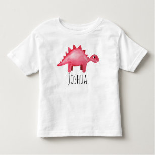 Triceratops personnalisé Enfants Dinosaure T-shirt Tout Nom-Cadeau d/'anniversaire Jurassique