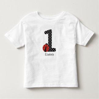 T-shirt Pour Les Tous Petits ?ère chemise de coccinelle d'anniversaire pour un