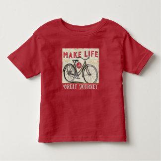 T-shirt Pour Les Tous Petits Faites à la vie une grande citation de voyage