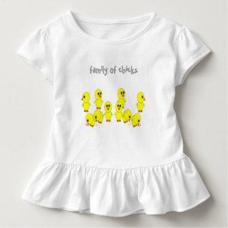 T-shirt Pour Les Tous Petits famille des poussins