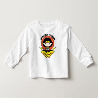 T-shirt Pour Les Tous Petits Femme de merveille de Chibi avec le pois et le