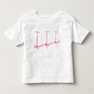 T-shirt Pour Les Tous Petits filez filent filent peu pièce en t (rose)