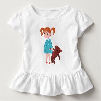 T-shirt Pour Les Tous Petits Fille avec l'ours de nounours
