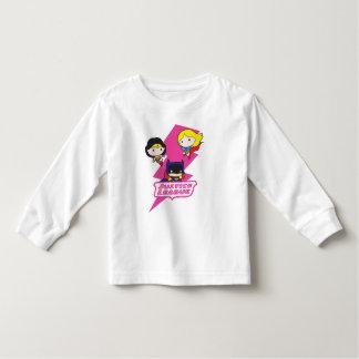 T-shirt Pour Les Tous Petits Foudre de rose de ligue de justice de Chibi